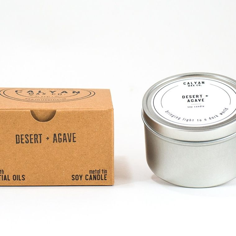 Metal Tin Soy Candle - Desert/Agave