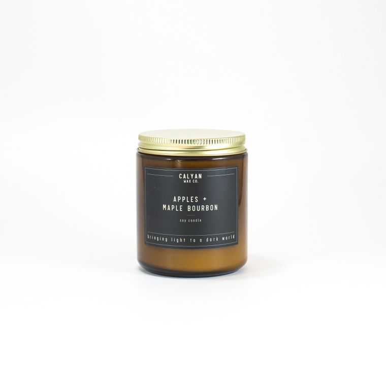 Amber Jar Soy Candle - Apples/Maple Bourbon