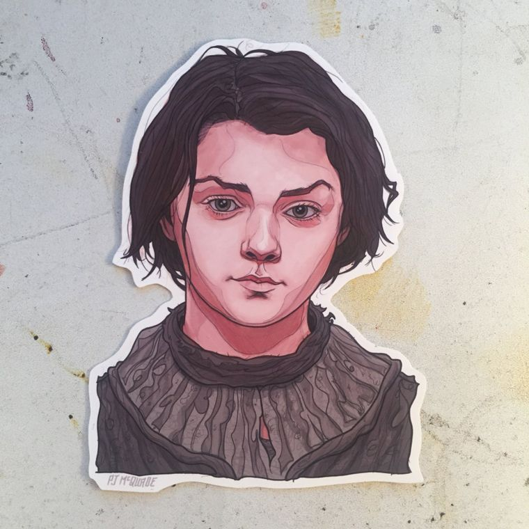 Arya Stark GAME of THRONES Waterproof Sticker