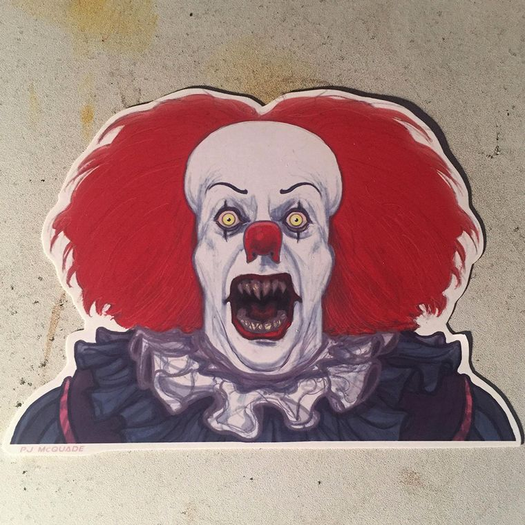 Pennywise Demon IT 1990 Waterproof Sticker
