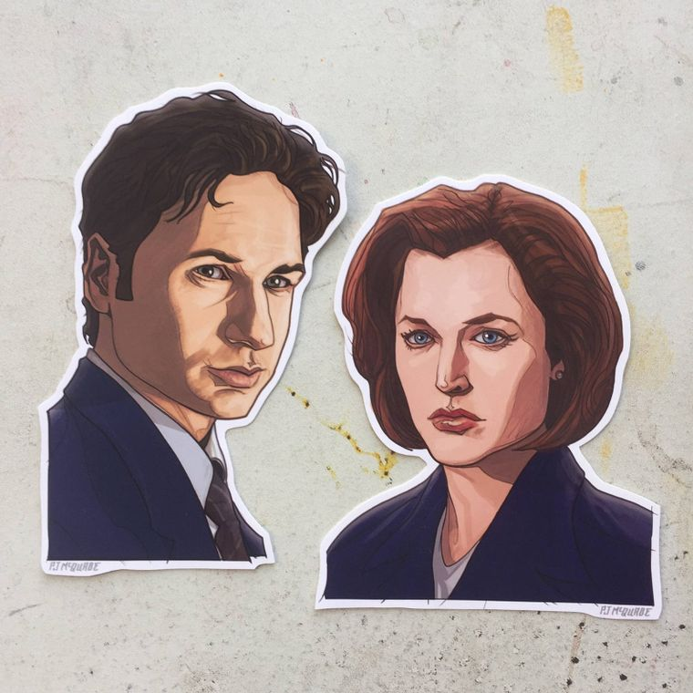 The X-FILES Waterproof Sticker SET