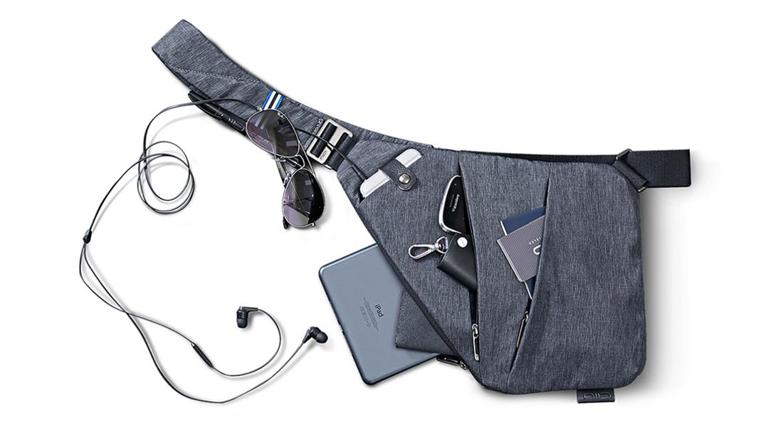 NIID-FINO Sling Shoulder Crossbody Chest Bag Slim Backpack Multipurpose Daypack