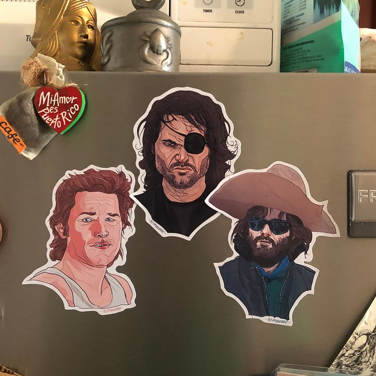 KURT RUSSELL Fridge Magnet 3 Pack