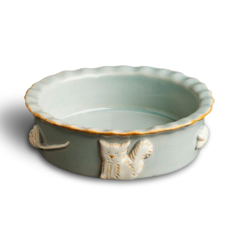 Cat Food/Water Bowl - French Grey