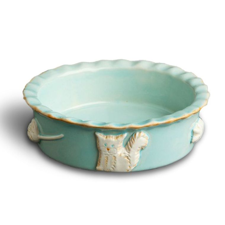 Cat Food/Water Bowl - Sky Blue