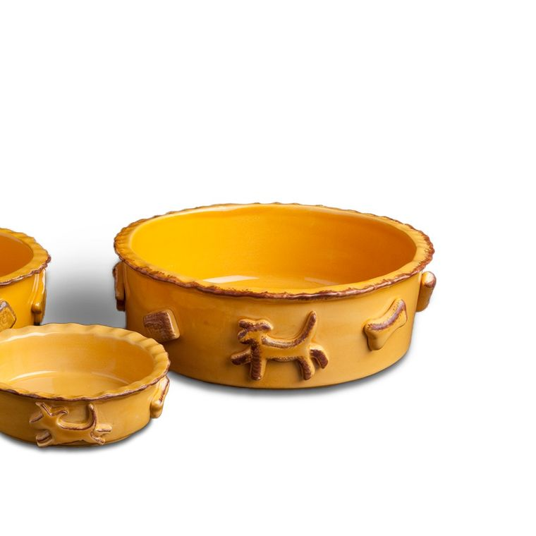 Dog Food/Water Bowl - Large Caramel