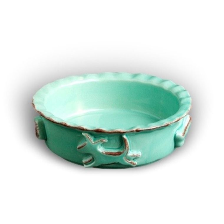 Dog Food/Water Bowl - Small Aqua/Green