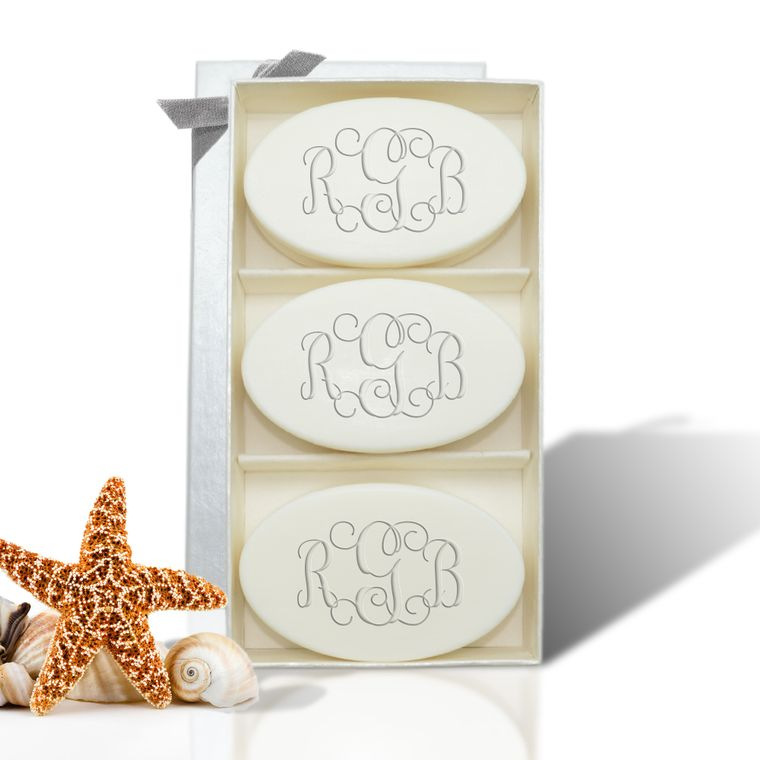Signature Spa Trio Monogrammed Soap Gift Set
