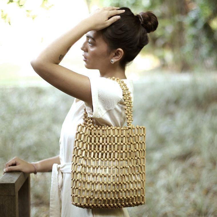 Putu Bamboo Beads Bag