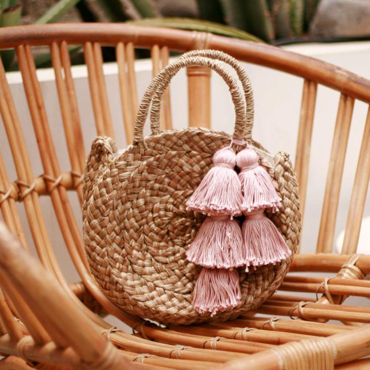 Petite Luna Bag with Blush Tassels