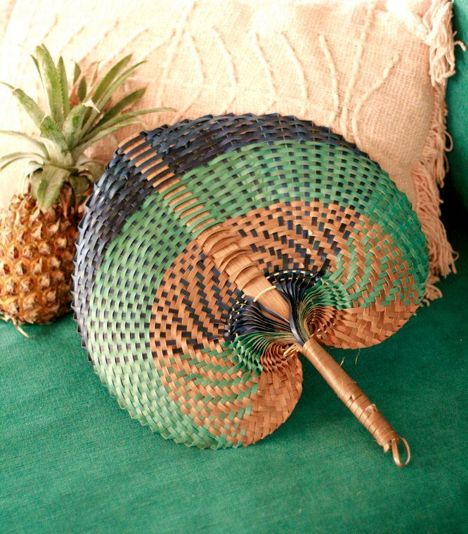 Balinese Tropica Woven Fan
