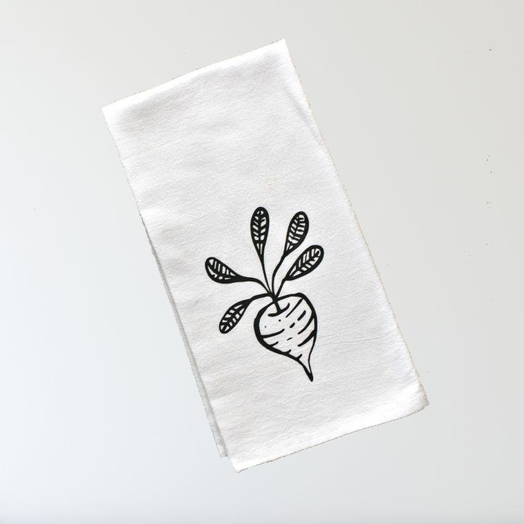 Farmhouse Flour Sack Towel - Radish