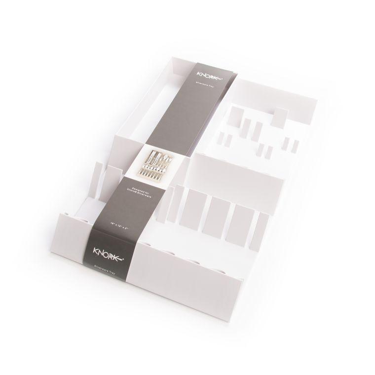 Knork Flatware Storage Tray White