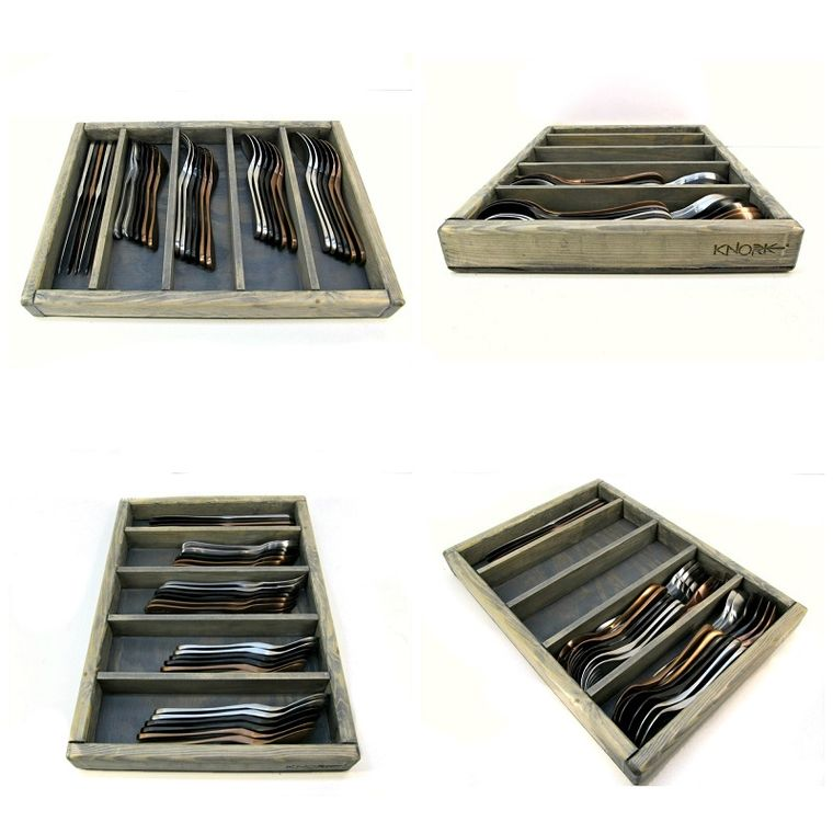 Wood Silverware Storage Tray // Standard (USA MADE)