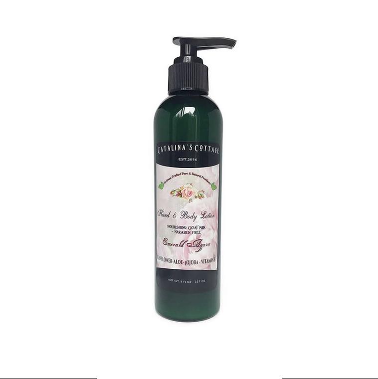 Goat Milk & Honey Lotion - (Paraben Free) Emerald Agave NET WT 8 oz