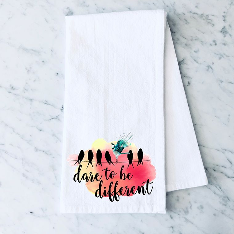 Dare to Be Different Cotton Flour Sack Towel