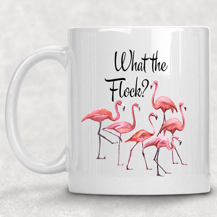 What the Flock? Flamingo Funny Adult Themed 11 oz. Mug