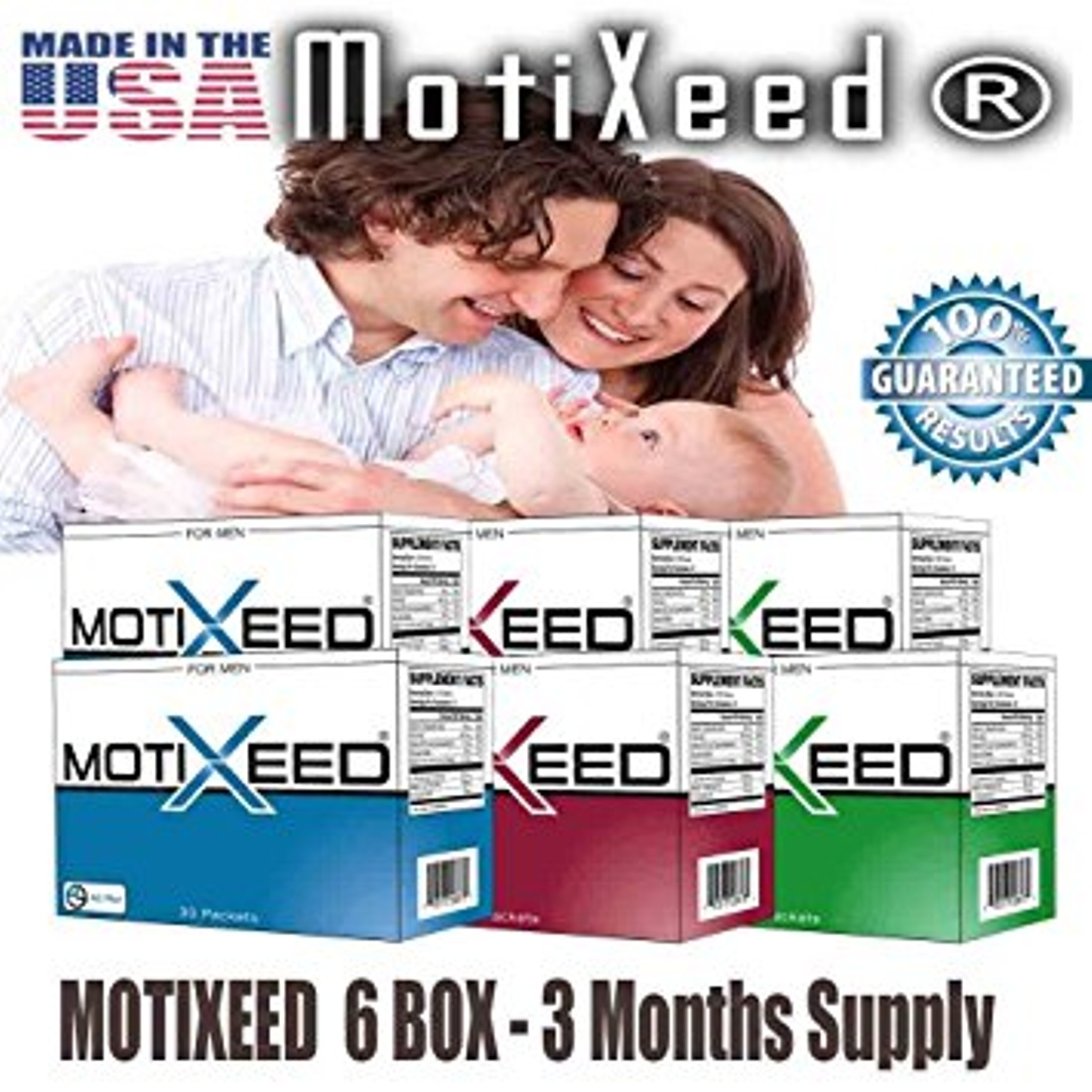 MOTIXEED® Men's Sperm Health Optimizer. Sperm Health vitamin - Male Fertility Booster.