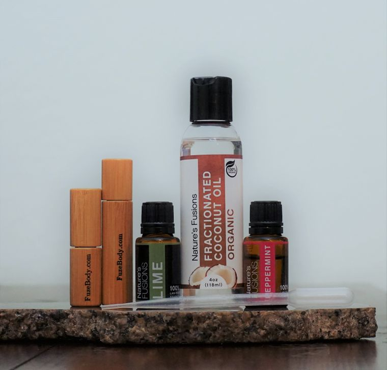 "Calm ""Mojito"" Essential Oil blend Roll-On DIY 10ml Kit"